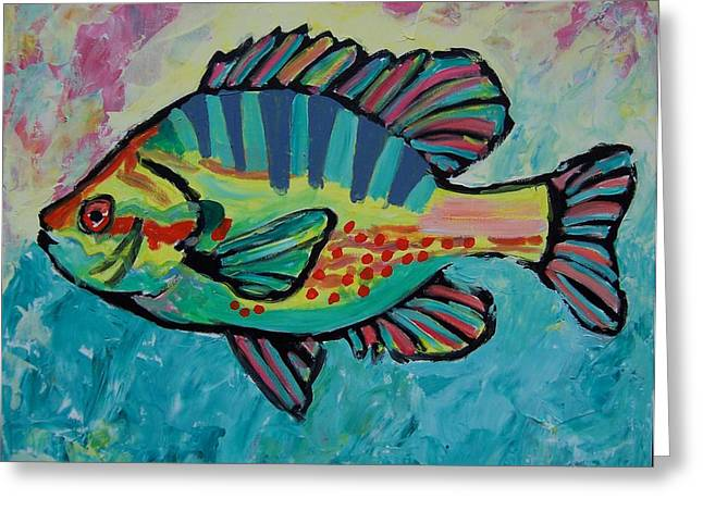 Sunfish Greeting Card by Krista Ouellette