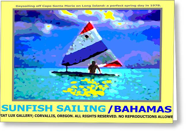 Sunfish Sailing Bahamas II Greeting Card