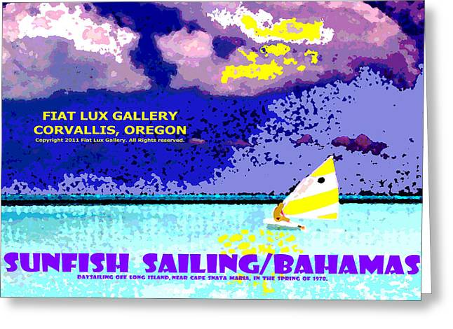 Sunfish Sailing Bahamas Greeting Card
