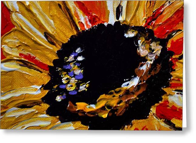 Sunflower 2 Greeting Card by Vickie Warner