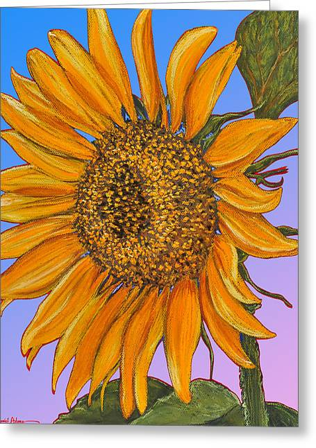 Da154 Sunflower By Daniel Adams Greeting Card