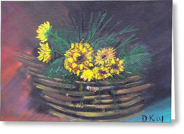 Sunflower Basket Greeting Card