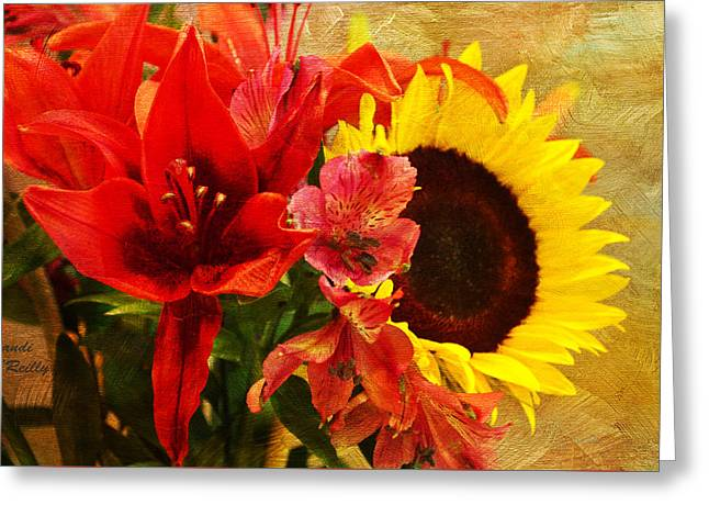 Sunflower Bouquet Greeting Card by Sandi OReilly
