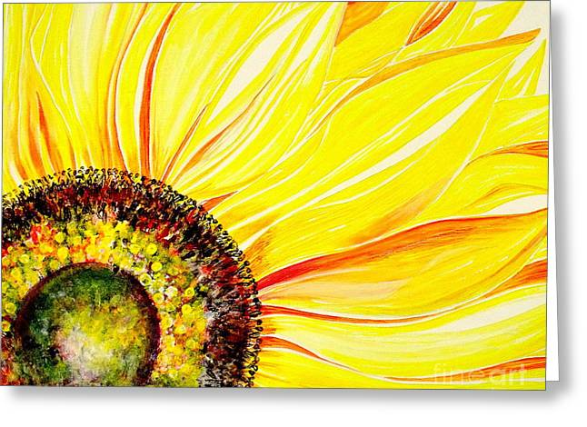 Sunflower Day Greeting Card by Julie  Hoyle