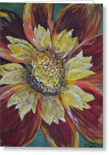 Sunflower Greeting Card by Debbie Baker