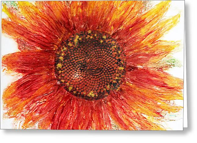 Sunflower Deep Greeting Card by J L Carothers