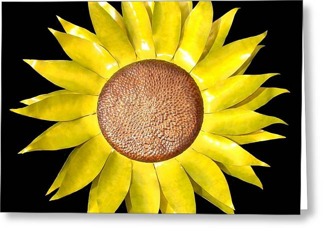 Sunflower Greeting Card by Diane Snider