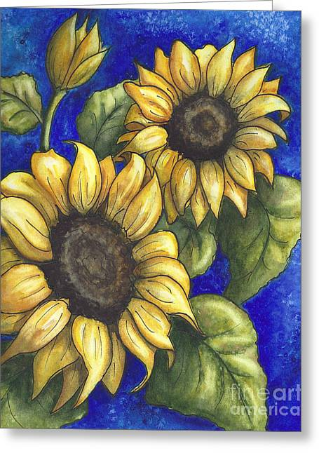 Sunflower Duo 2 Greeting Card