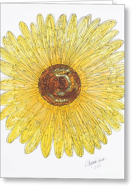 Sunflower For Mom Chapman Greeting Card by Kristi Chapman