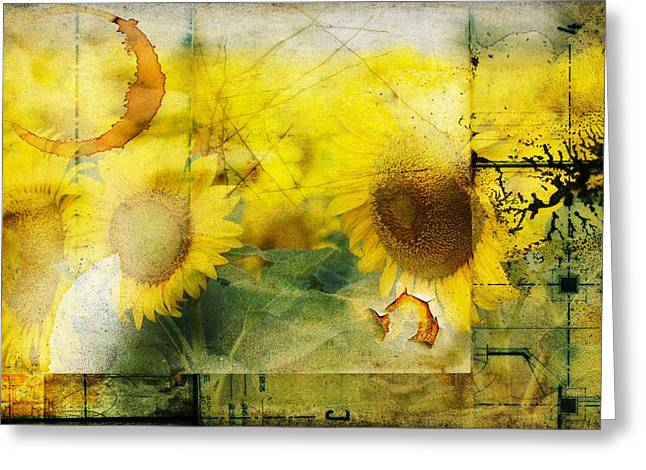 Sunflower Grunge Greeting Card