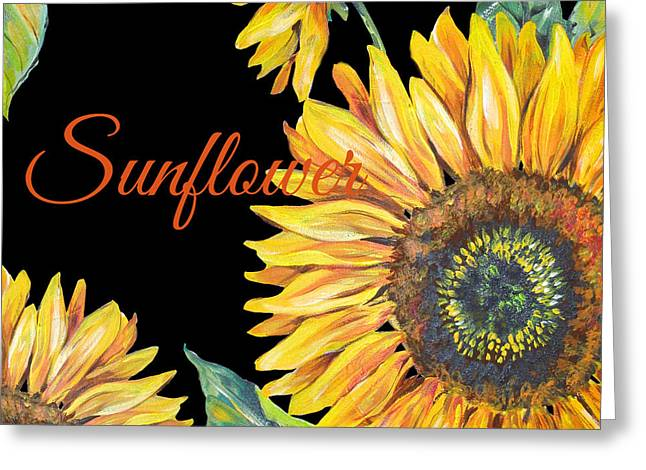 Sunflower-jp2600 Greeting Card by Jean Plout