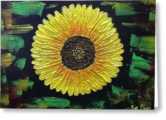 Sunflower Greeting Card by Kat Poon