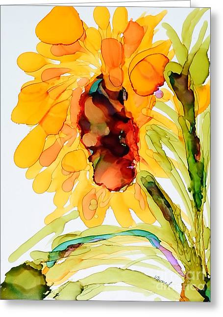 Sunflower Left Face Greeting Card