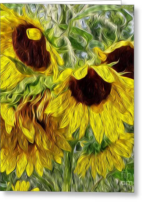 Sunflower Morn  Greeting Card