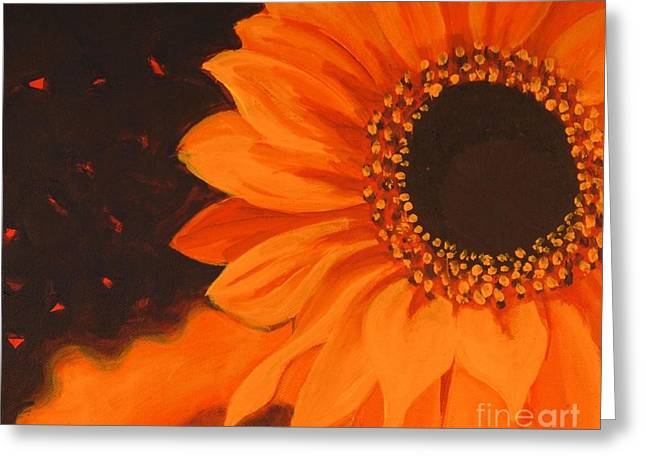 Greeting Card featuring the painting Sunflower Mystique by Janet McDonald