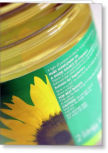 Sunflower Oil Greeting Card by Mark Sykes