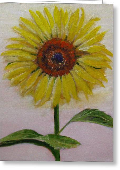 Sunflower Greeting Card by Sherry Robinson