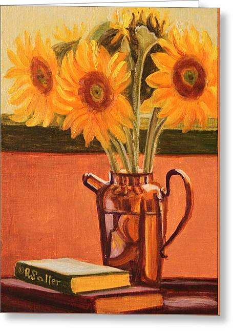 Sunflower Still Life Greeting Card