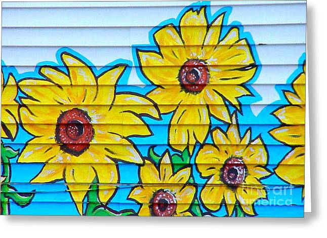 Sunflower Street Art Saint Johns Nfld Greeting Card