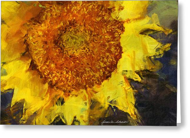 Sunflower Greeting Card by Susan Schroeder