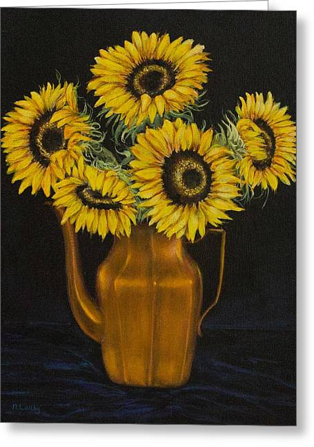Sunflower Tea Greeting Card