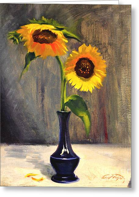 Sunflowers - Adoration Greeting Card
