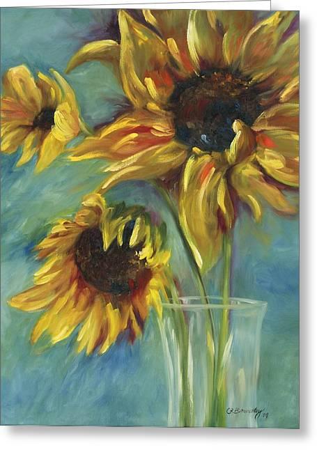 Sunflowers Greeting Card by Chris Brandley