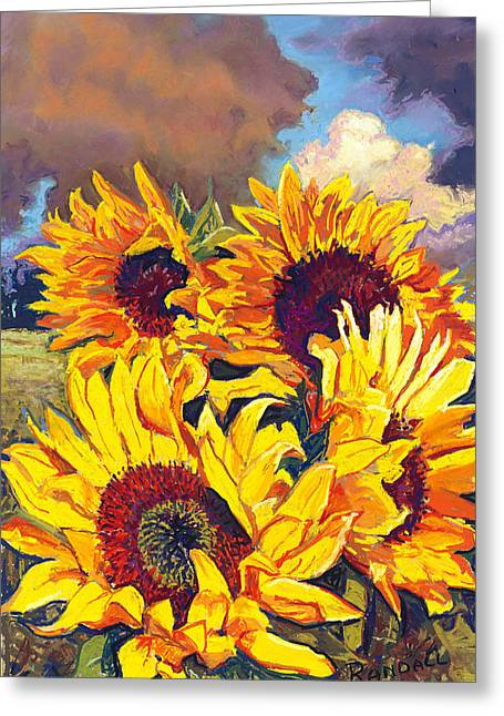 Sunflowers Greeting Card by David Randall