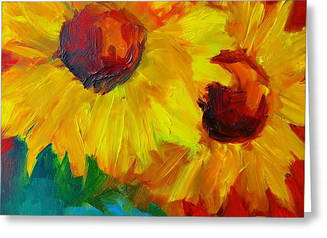 Joyful Floral Greeting Card by Patricia Awapara