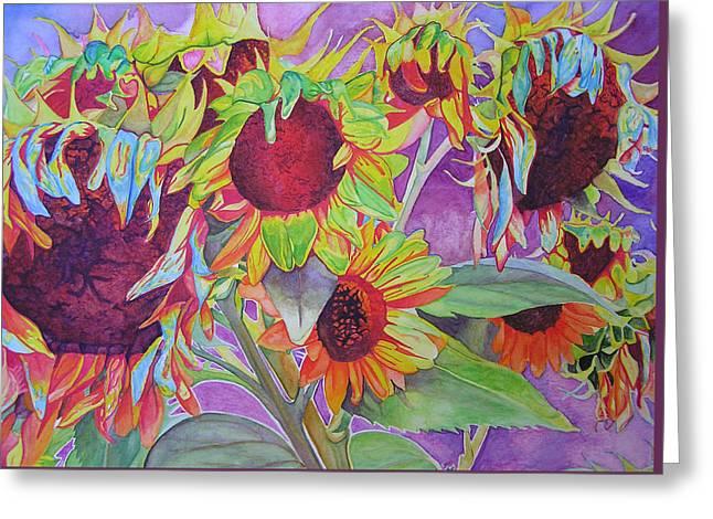 Sunflowers Greeting Card by Joshua Morton