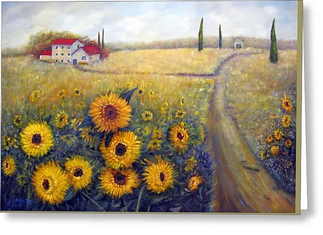 Sunflowers Greeting Card by Loretta Luglio