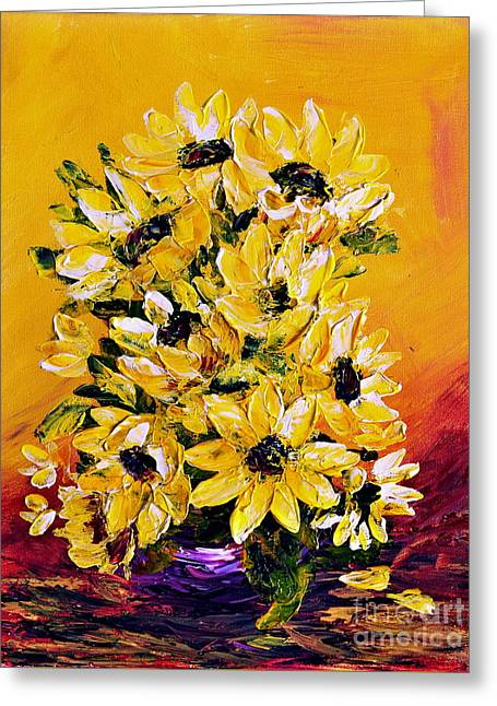 Sunflowers  No.3 Greeting Card by Teresa Wegrzyn