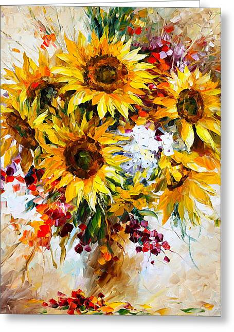 Sunflowers Of Happiness New Greeting Card