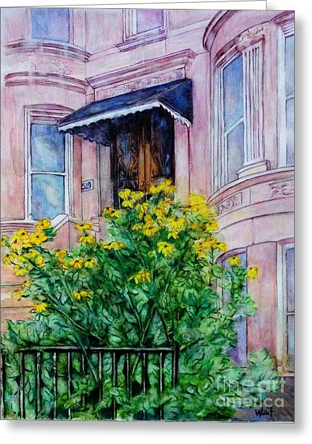 Sunflowers On 9th Street Greeting Card
