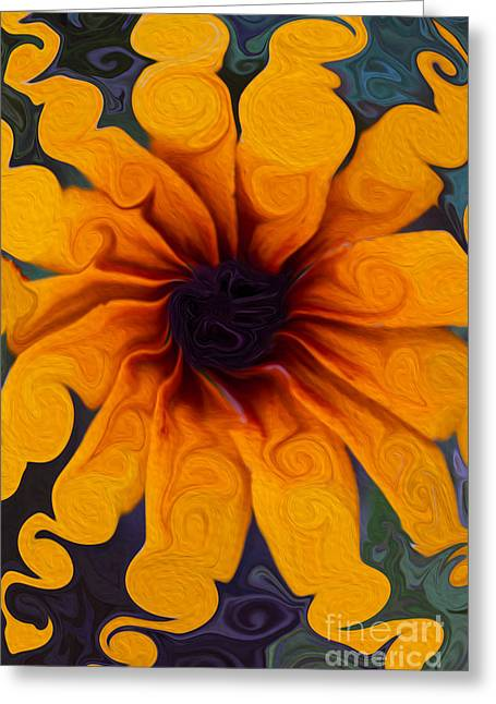 Sunflowers On Psychadelics Greeting Card