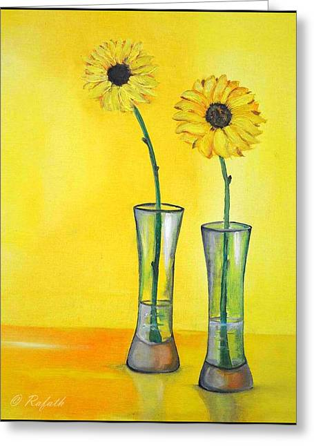 Sunflowers Greeting Card by Rafath Khan