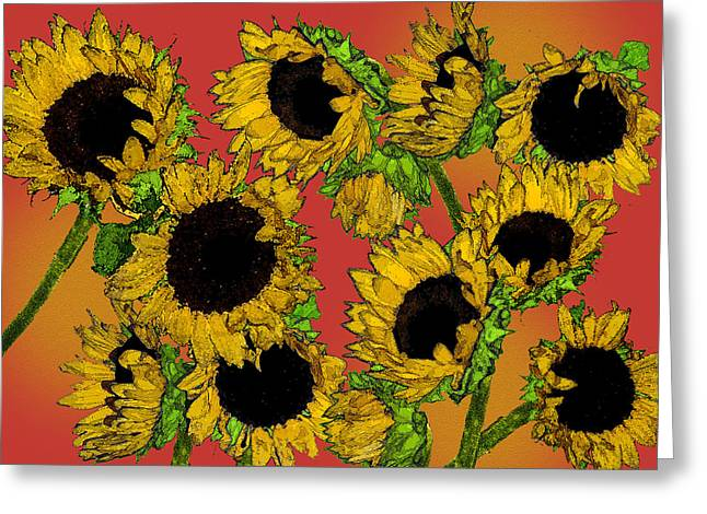 Sunflowers Greeting Card by Robert Ashbaugh