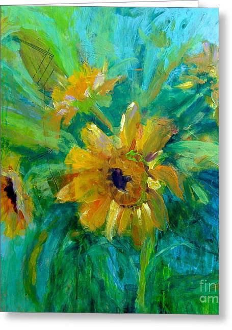 Sunflowers Greeting Card by Virginia Dauth