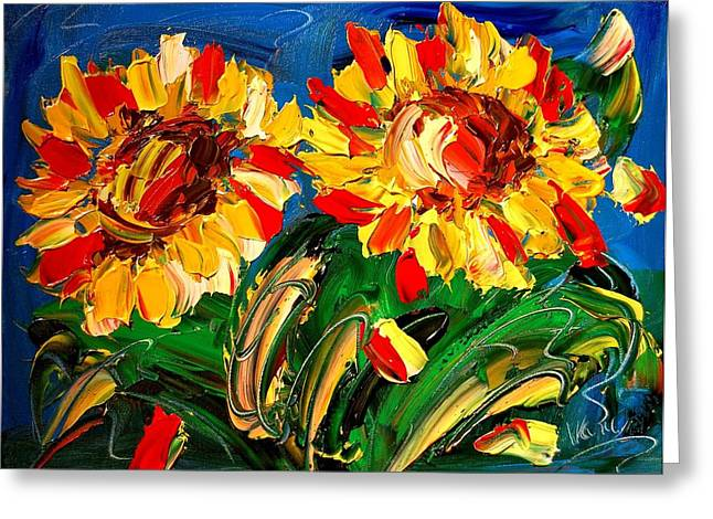 Sunflwers Greeting Card by Mark Kazav