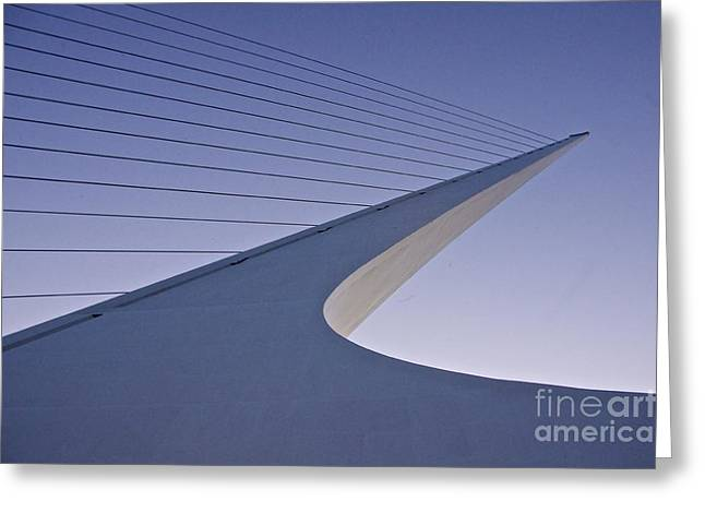 Sundial Bridge Greeting Card by Sean Griffin