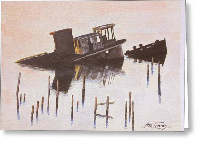 Sunken Boat Greeting Card