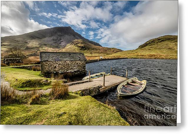 Sunken Boats Greeting Card by Adrian Evans