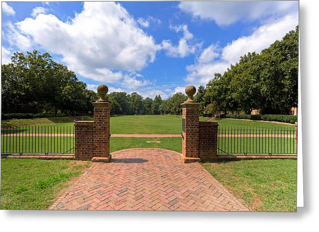 Greeting Card featuring the photograph Sunken Garden At William And Mary by Jerry Gammon