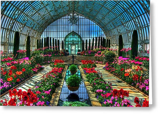 Sunken Garden Marjorie Mc Neely Conservatory Greeting Card