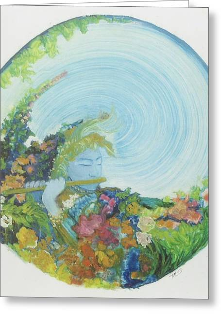 Reflection In The Sunken Tea Garden Greeting Card