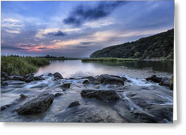 Sunken Meadow Morning Greeting Card by Mike Lang