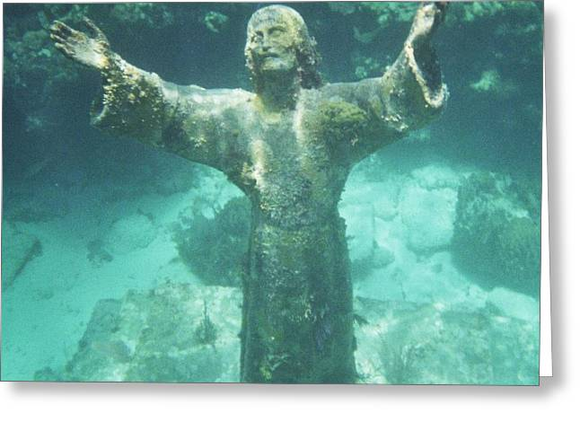 Greeting Card featuring the photograph Sunken Savior by Robert ONeil