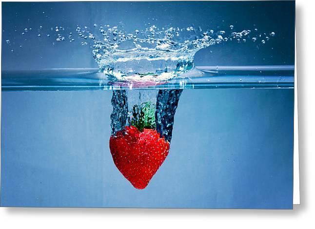 Sunken Strawberry Greeting Card