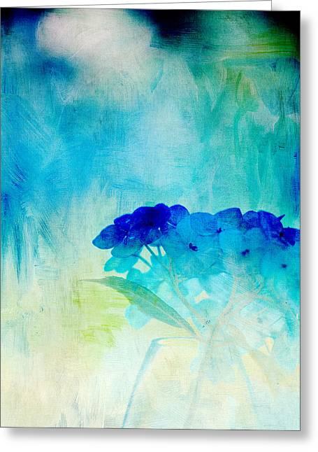 Sunkissed Hydrangeas Greeting Card by Bonnie Bruno