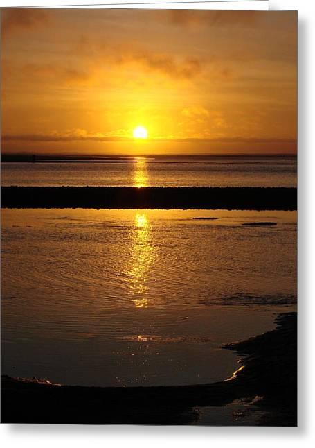 Sunkist Sunset Greeting Card by Athena Mckinzie